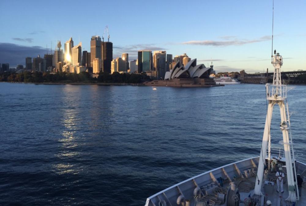 Arrival in Sydney (© Fokje Schaafsma/FAJ)