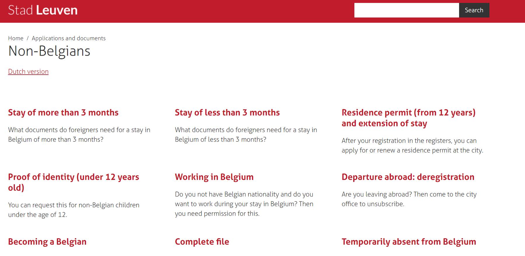 Belgium resident permit